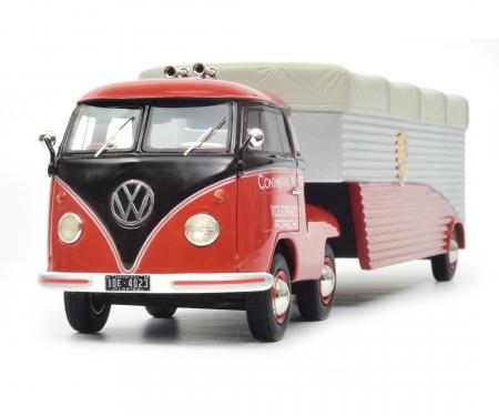 "VW T1b Renntransporter ""Continental Motors"", rot, 1:18"