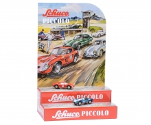 Piccolo Mini-Display II with Piccolo Ferrari 250 Le Mans #5 and AC Cobra #6