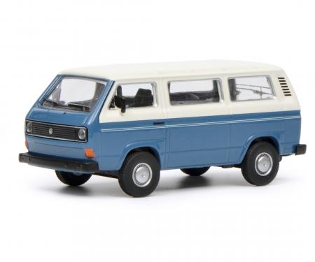 VW T3 Bus, blue white, 1:64