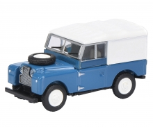 Land Rover 88 closed, blue 1:87