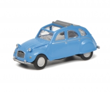Citroën 2 CV mit geöffnetem Verdeck, blue, 1:87