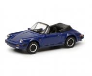 Porsche 911 Carrera 3.2 Cabriolet, blue, 1:87