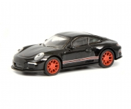 Porsche 911 R (991), schwarz/rot 1:87