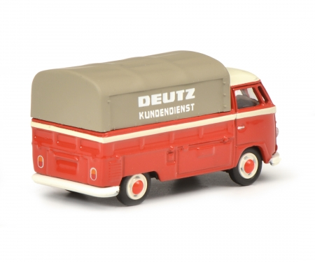 "VW T1b pick-up with tarpaulin ""Deutz Service"", red, 1:87"