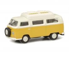VW T2a Camping Bus mit geschlossenem Dach, gelb weiß, 1:87
