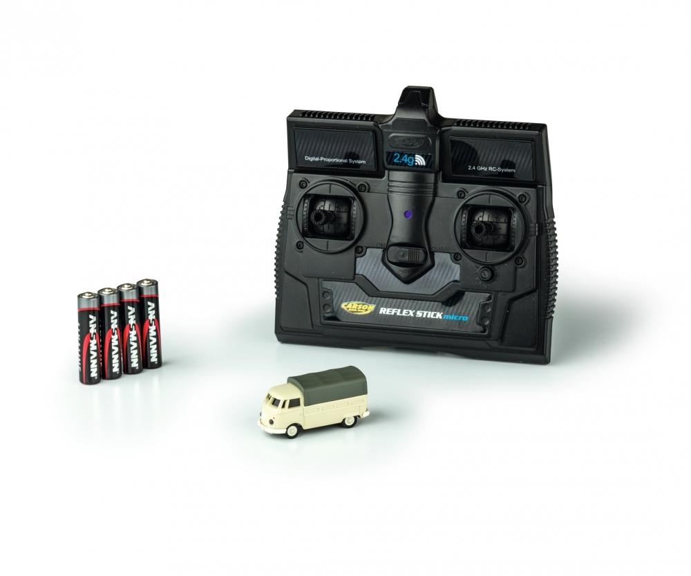 1 87 vw t1 bus pick up 2 4g 100 rtr electric power cars. Black Bedroom Furniture Sets. Home Design Ideas