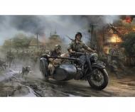 1:35 WWII Ger. R12 Sidecar w/ Crew (2)