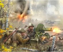 1:72 WWII Fig.-Satz Sov. MG-Trupp (4)