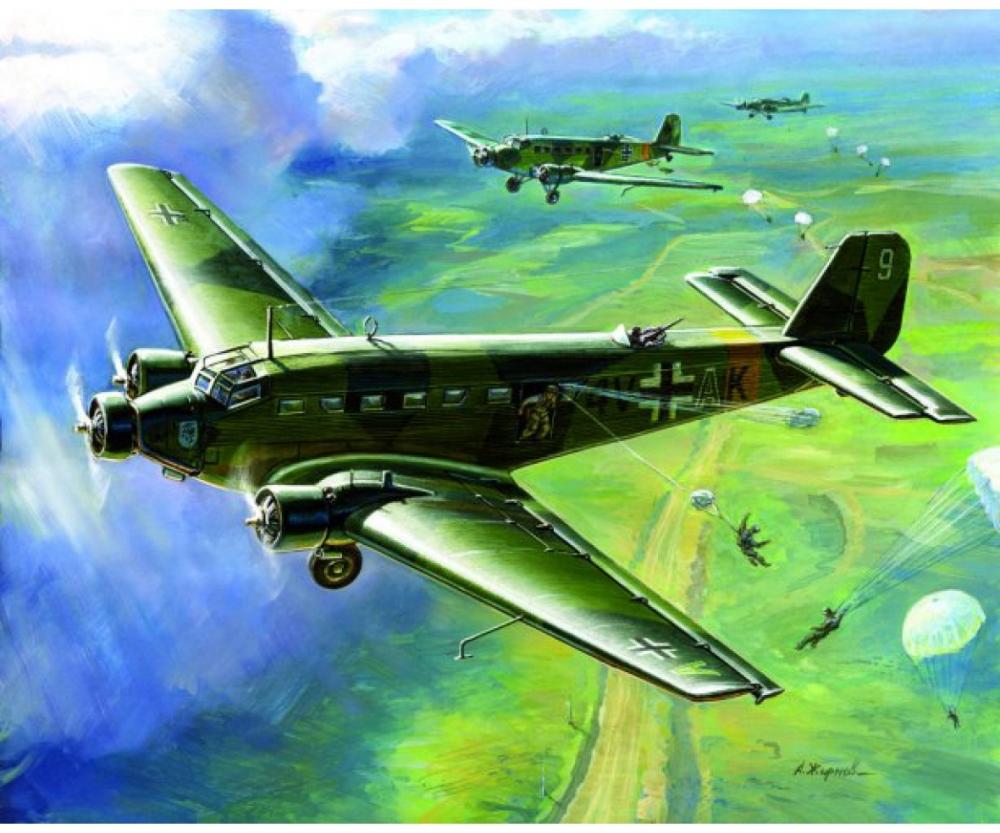 1:200 WWII Ju-52 Transport Plane