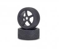 1:8 Reifen/Felgen-Set On-Road schw. (2)