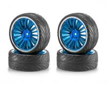 1:10 BigWheel-Set 01 20spok blue/chro(4)