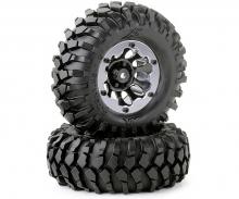 1:10 Räderset Crawler schwarz 96mm (2)