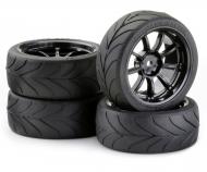 Touring Tyre Set 3mm 1/10 TA(9R.)bl.(4)