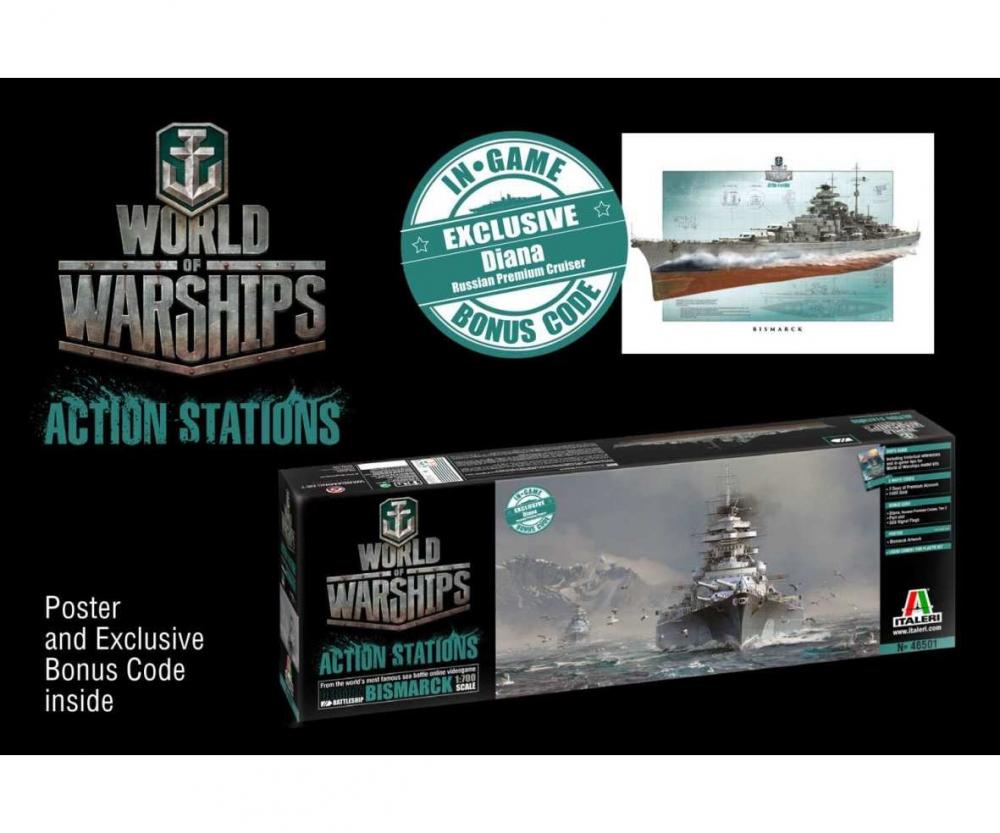 1:700 Bismarck - World of Warships - Other Plastic Models