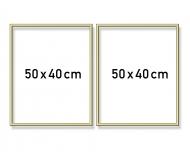 Cadre en aluminium diptyque 50 x 80 cm