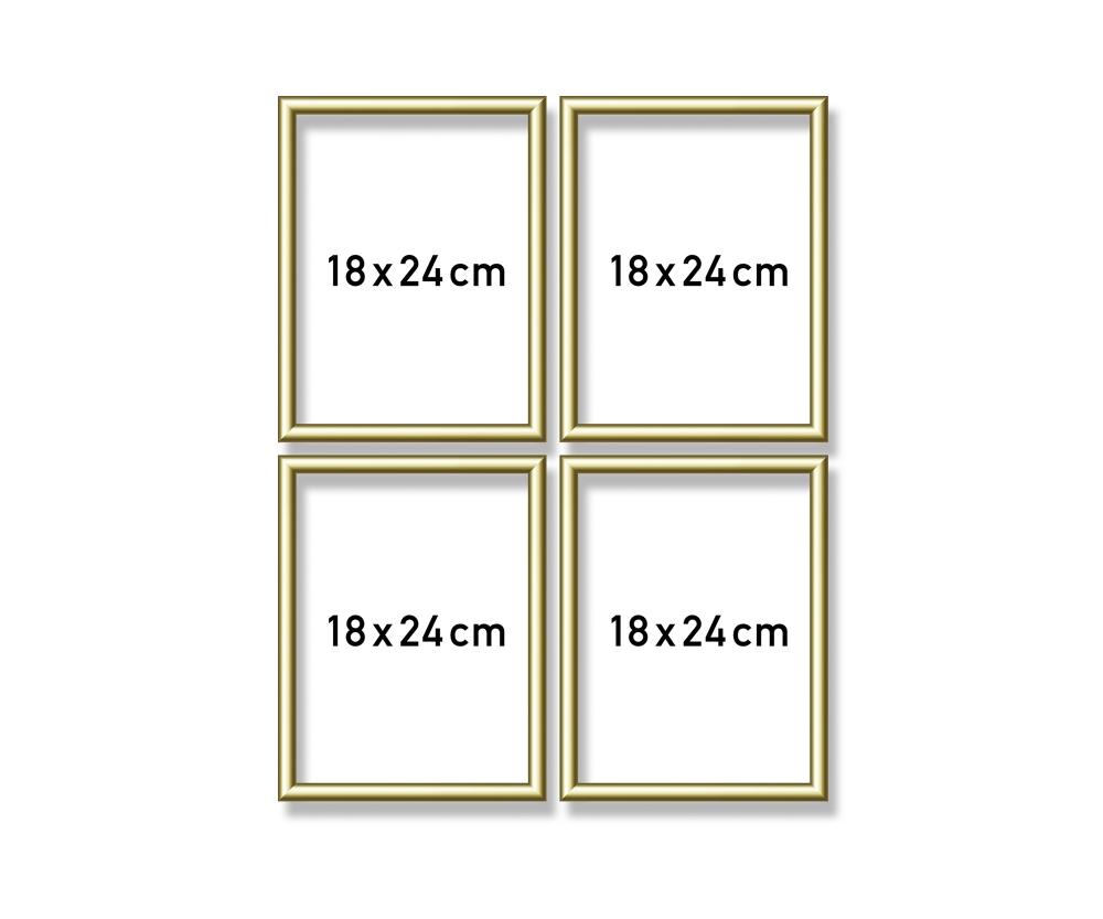 Aluminium frame Quattro 18 x 24 cm - Picture frames made of ...