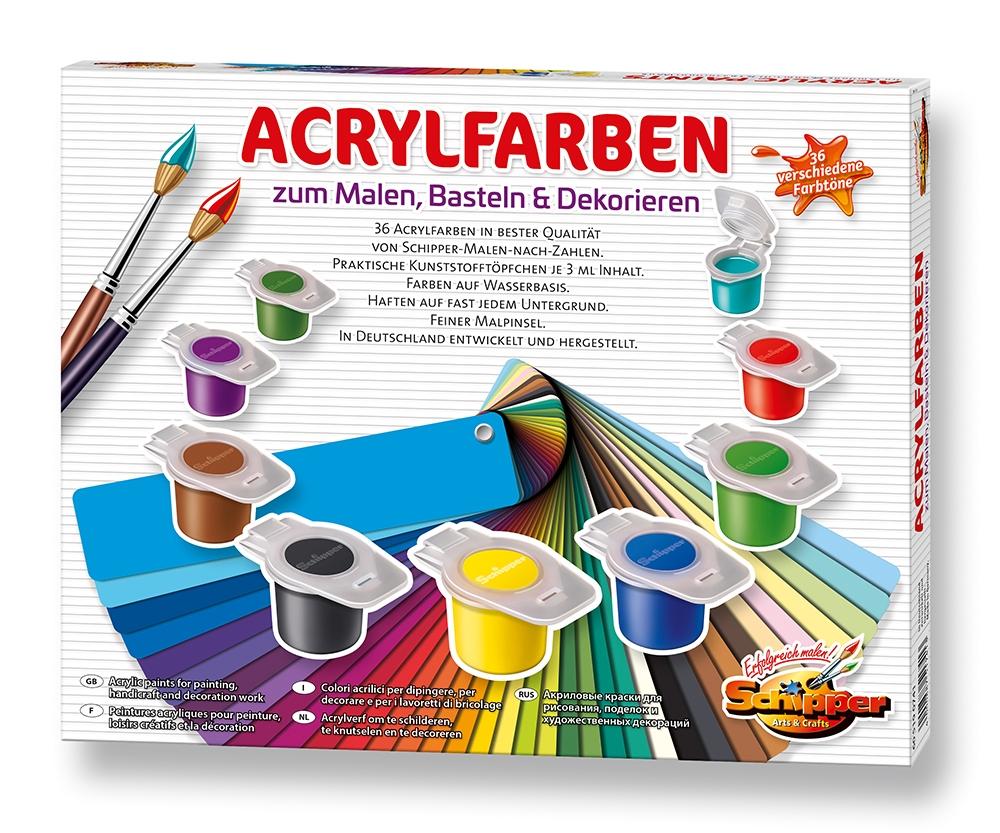 Acrylfarben Zum Malen Basteln Und Dekorieren Acrylfarben
