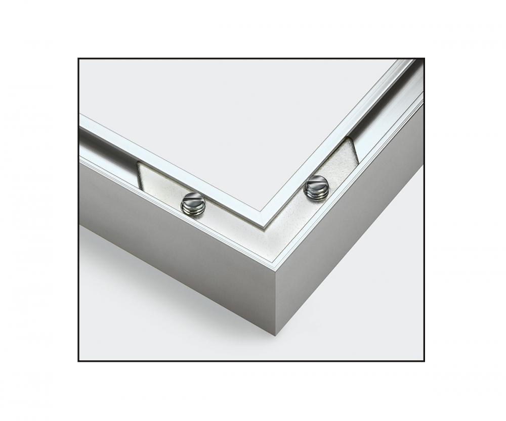 2 alurahmen 24 x 30 cm silber matt aluminium bilderrahmen zubeh r. Black Bedroom Furniture Sets. Home Design Ideas