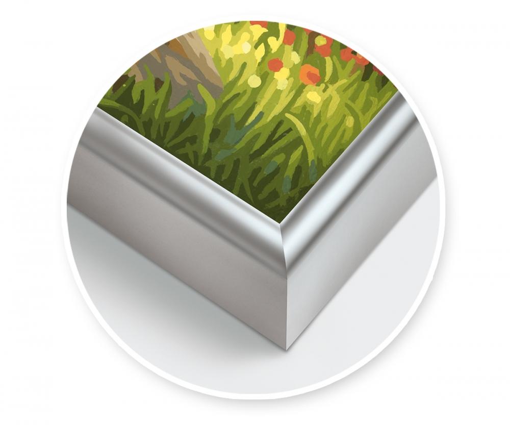 alurahmen 40 x 80 cm silber matt aluminium bilderrahmen zubeh r. Black Bedroom Furniture Sets. Home Design Ideas