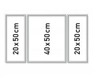 Alurahmen Tritpychon 50 x 80 cm – Silber matt
