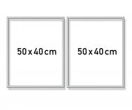 Aluminium frame Diptych 50 x 80 cm – mat silver