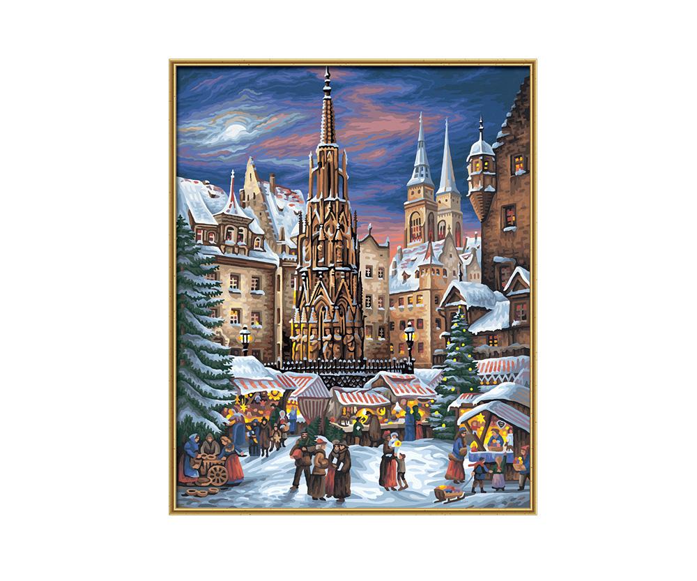 Nuremberg Christmas Market - Christmas Paintings - Design groups ...