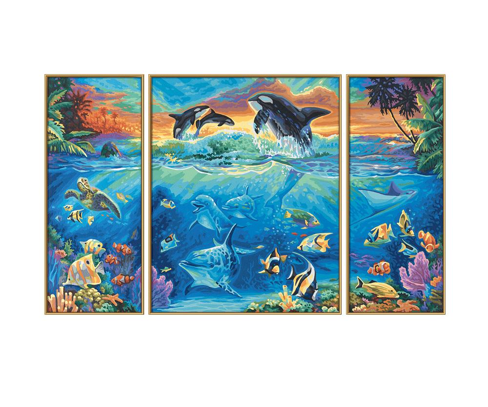 Am Korallenriff - Triptychon - Motiv-Gruppen - shop.malennachzahlen ...