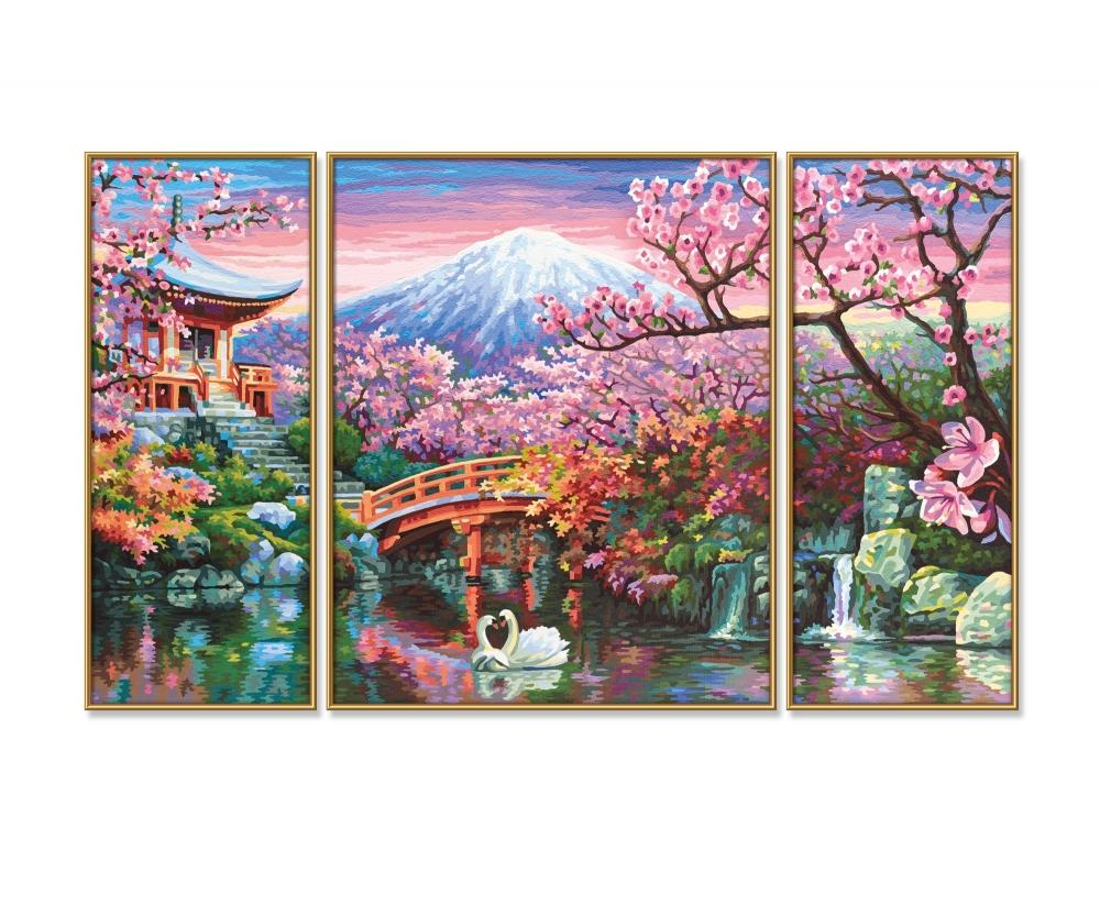 Kirschblüte in Japan - Triptychon - Motiv-Gruppen - shop ...