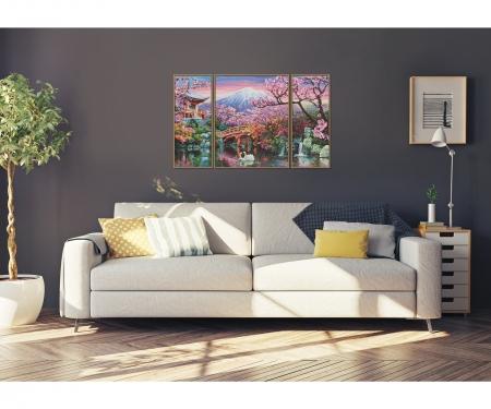 kirschbl te in japan triptychon motiv gruppen shop. Black Bedroom Furniture Sets. Home Design Ideas