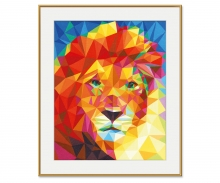 Löwenkopf – Polygon-Art