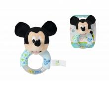Disney Mickey Ring Rassel mit Plüsch
