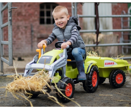 big CLAAS Celtis Loader + Trailer