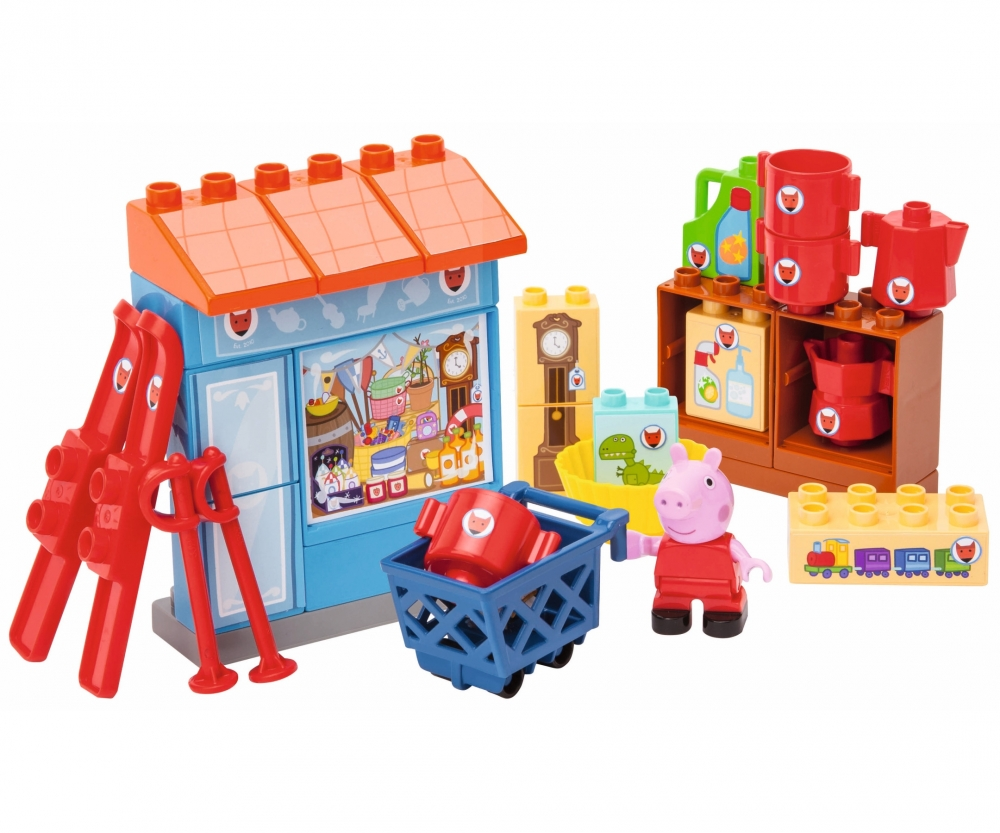 big bloxx peppa pig mr fox 39 s shop toy baby toddler. Black Bedroom Furniture Sets. Home Design Ideas