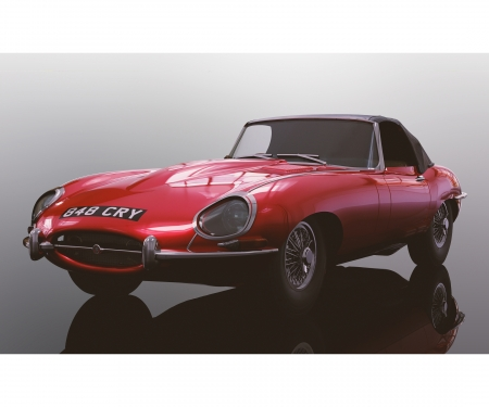 carson 1:32 Jaguar E-Type Red 848CRY HD