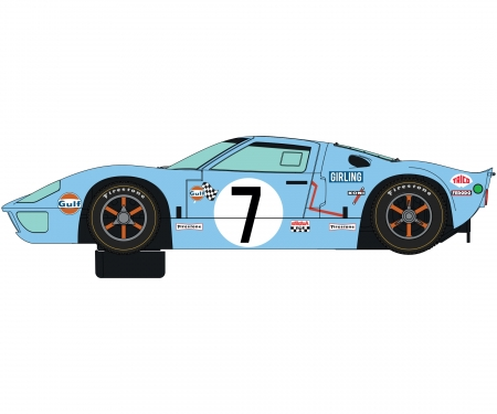 carson 1:32 Ford GT40 1969 Gulf Twin Pack HD