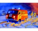 carson 1:43 UAZ 3909 Firefighter car