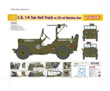 1:6 1/4Ton 4x4 Truck w/30-cal MachineGun