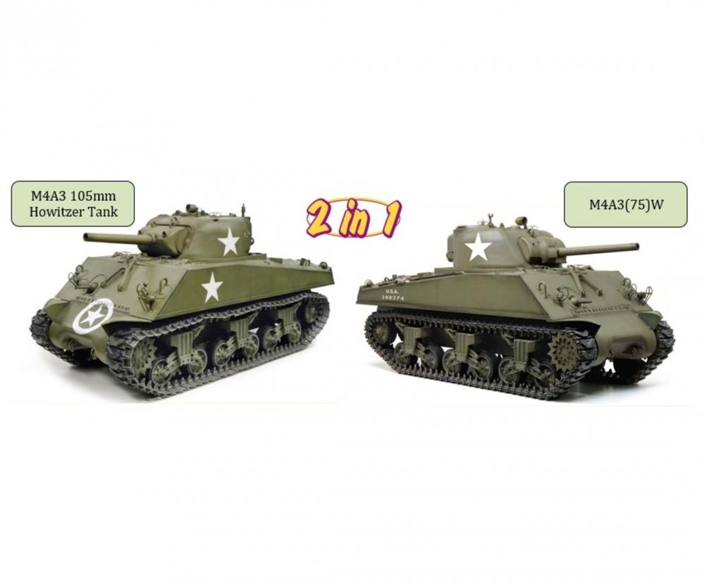 1:6 M4A3 105mm Howitzer Tank/M4A3(75)W - Kits 1/6 - Kits