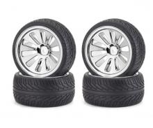 carson On-road tyre set, chrome (4) C V-10B