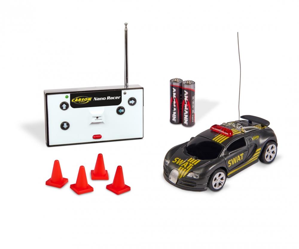 Carson 1:60 Nano Racer Big Boss 27 MHz 100/% RTR batterie e Telecomando 500404186 Colore Blu Tempo di Guida 8 min Veicolo RC Auto radiocomandata