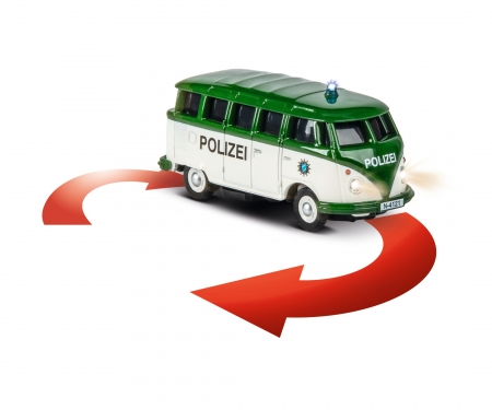 1:87 VW T1 Samba Bus Polizei 2.4G RTR