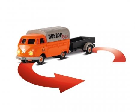 carson 1:87 VW T1 Bus Dunlop w.trailer 100% RTR