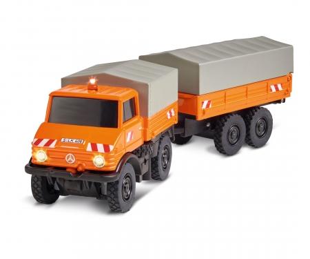 carson 1:87 MB Unimog U406 w. trailer 100% RTR