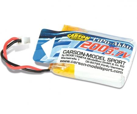carson 3.7V/200mAh LiPO Battery X4 Cage Copter