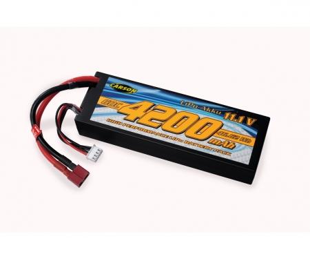 carson 11,1V/4200mAh 60C LiPO Battery T-Pl. HC