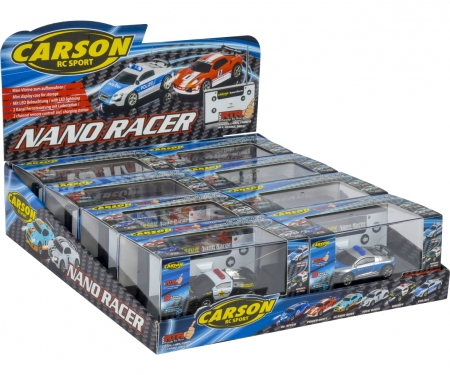 Nano Racer 8er Display Polizei 2-fach