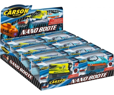 carson Nano Boats 8er Display 4-assort.