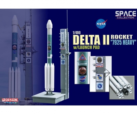 """carson 1:400 Delta II Rocket""""7925 Heavy""""/Launch"""