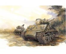 1:35 Sherman M4A3 105mm HVSS