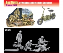 carson 1:35 Red Devils w/Welbike Drop Tube Cont